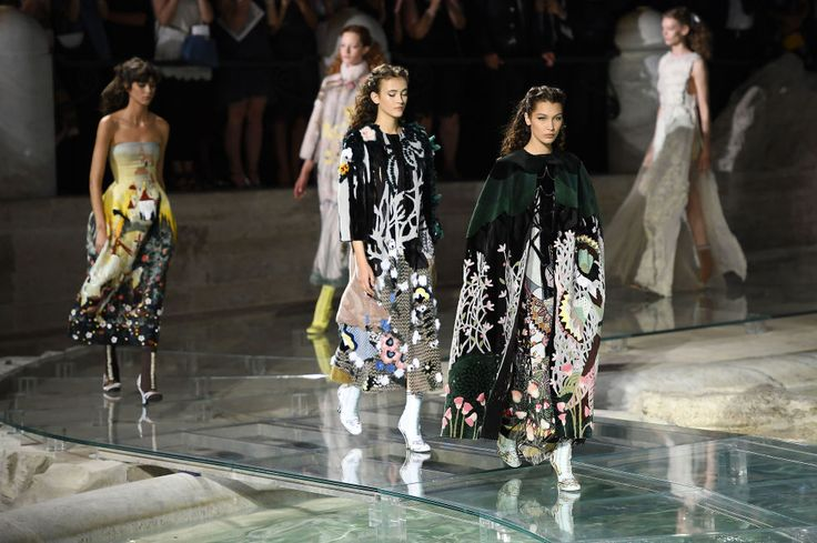 The show, dubbed haute fourrure, showcased Fendi's workmanship with fur. #Fendi #runway #BellaHadid #Rome #fashion