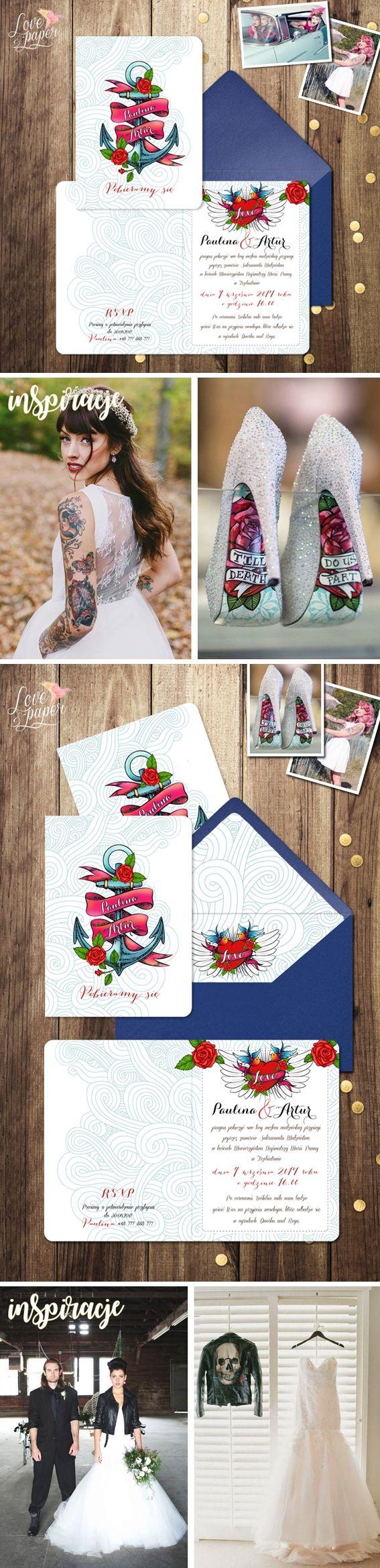 Papeteria Ślubna - Projekt indywidualny dla pary Pauliny i Artura Zaproszenia Ślubne Love&Rock  #loveandpaper #promocja #sklep #zaproszenia #winietki #papeteriaślubna #menu #księgagości #dodatkiślubne #dekoracje #weselny #paper #lovepaper #weddingmenu #weddinginformation #weddingdetail #weddingguide #projectwedding #weddingpaper #weddingdesign #tattoos #tatuaże