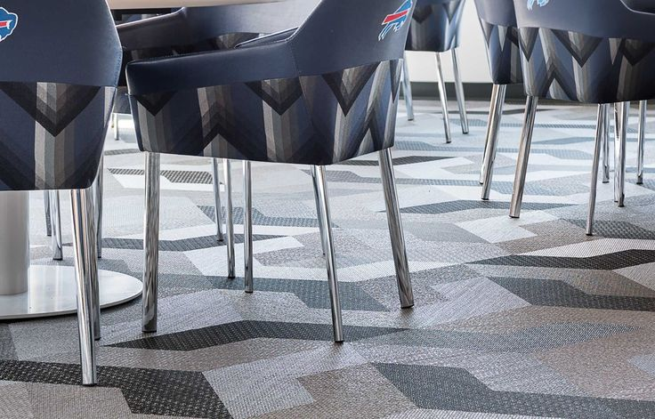 Bolon woven vinyl flooring in the New Era Field football stadium in Buffalo, New York