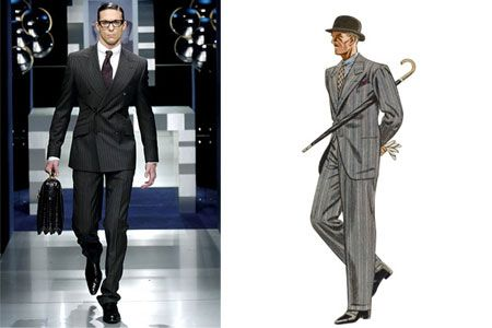 1930s-inspired men's fashion