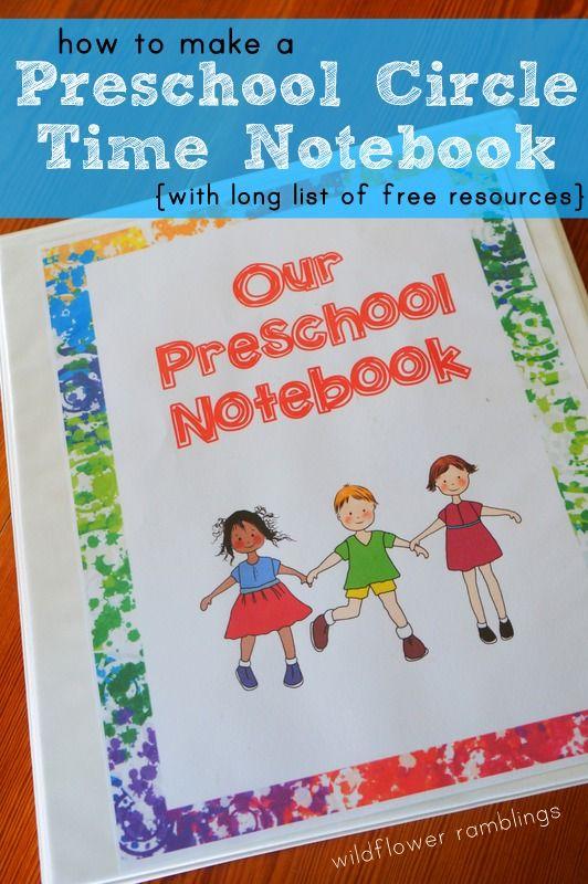 Preschool Circle Time Notebook - Wildflower Ramblings with free preschool cover printable!!