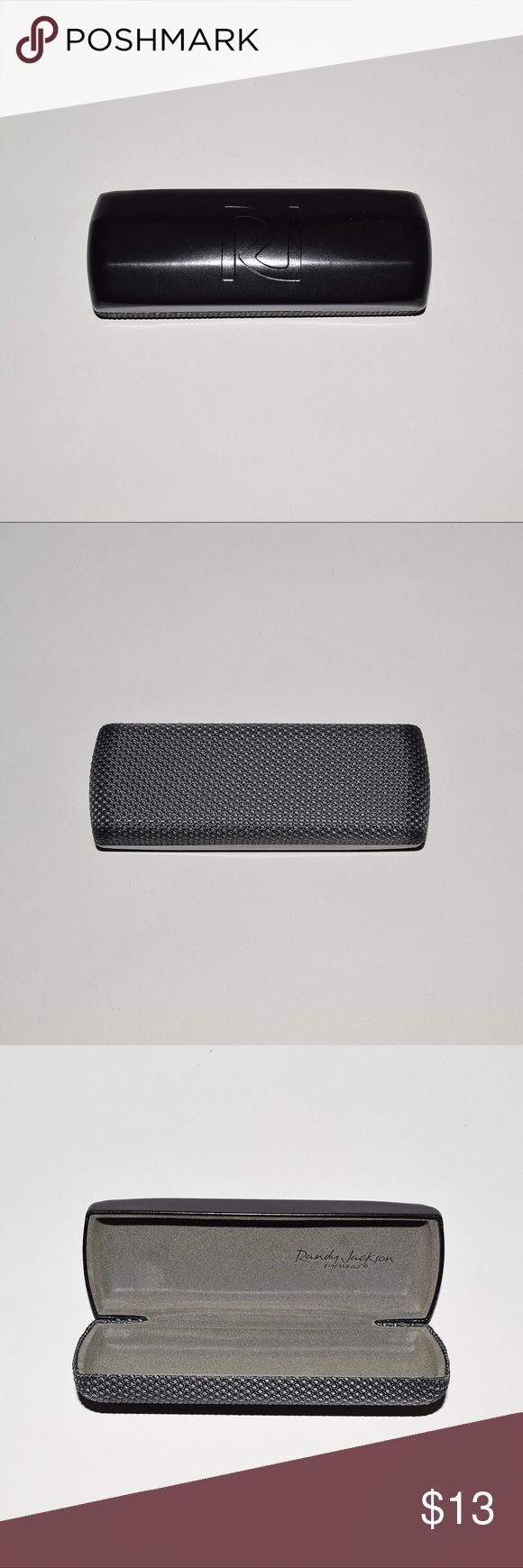 New Randy Jackson Eyeglasses Hard Shell Case Black Brand: Randy Jackson Item name: Eyeglasses / Sunglasses Hard Shell Case Condition: Brand new. Maesurements: L 6, W 2.25, H 1.5 inches  Please check your eyeglasses/sunglasses measurements for proper fit before purchasing. Randy Jackson Accessories Sunglasses