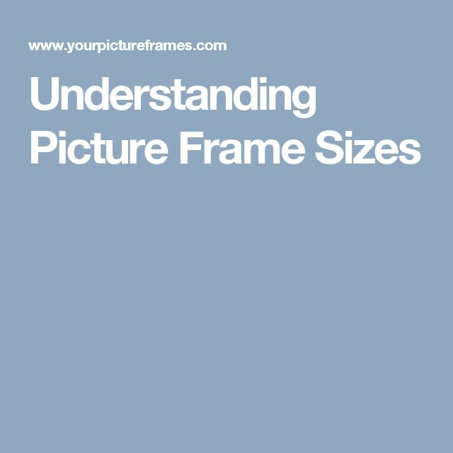 Understanding Picture Frame Sizes