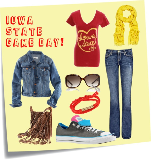 Iowa State Football Game Day, created by cara-blackford on Polyvore