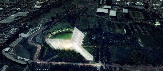 Los Diablos Rojos new stadium in Mexico City by JAHNand ADG