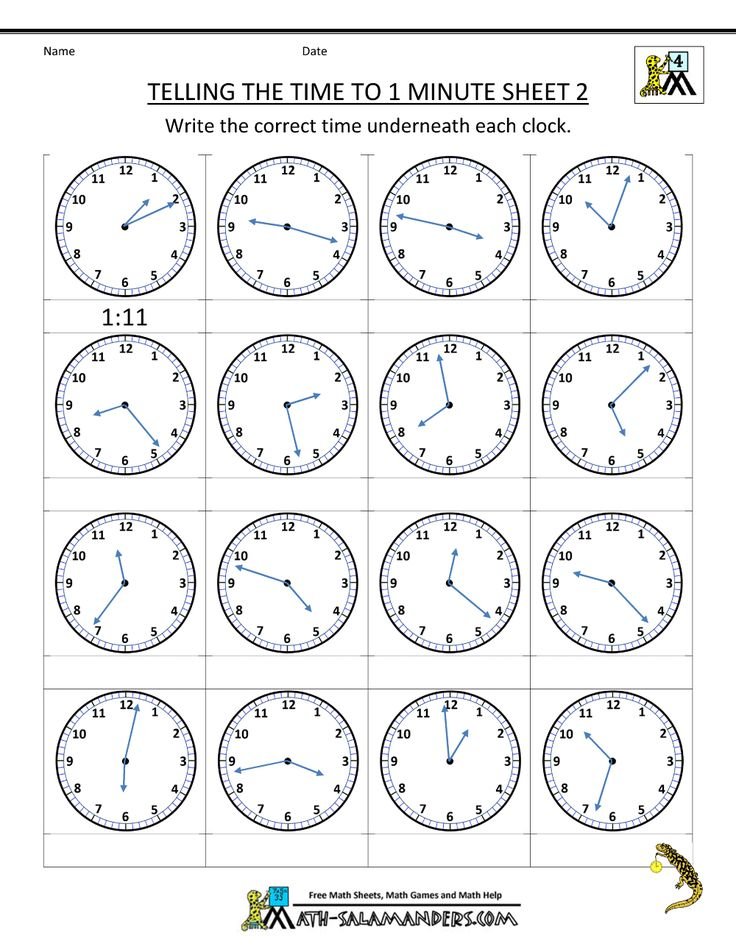 Elapsed Time - Telling Time Worksheet 3