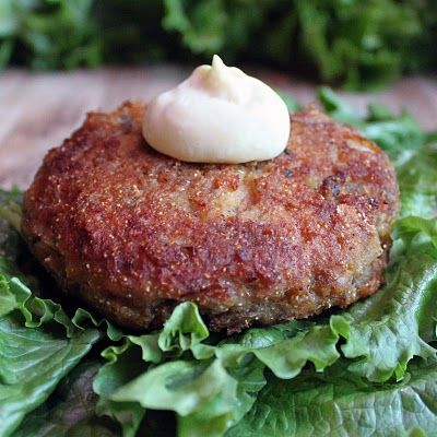 Salmon Patties...takes me back to my childhood. If you've never had a salmon patty you need to try it.
