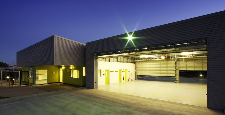 Architecture, Design, Modern, Commercial, Ambulance, Ambulance Station, Ambulance Victoria, Grey, Kyabram, Colorbond