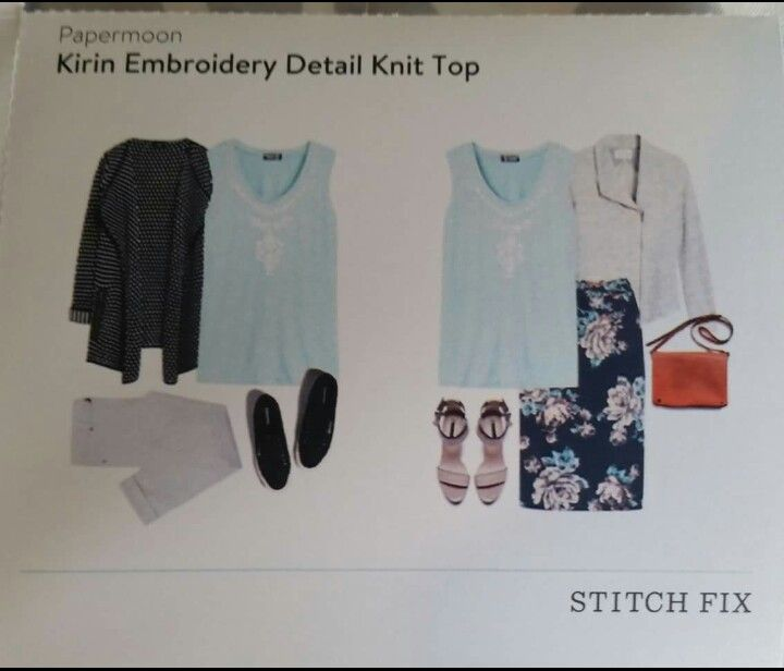 Papermoon kirin embroidery detail tank stitch fix