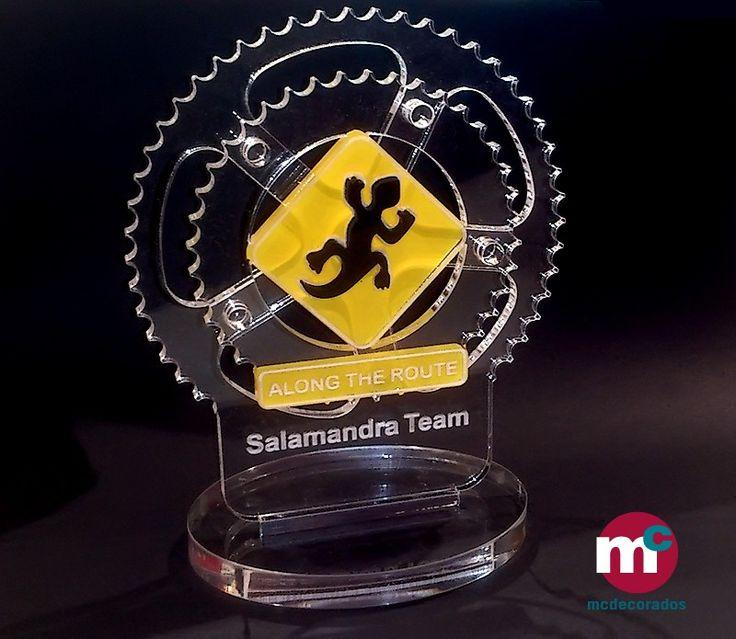 Trofeo metacrilato para competición BTT