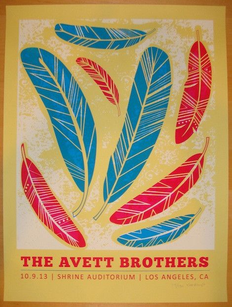 2013 Avett Brothers - Los Angeles Concert Poster by Kat Lamp