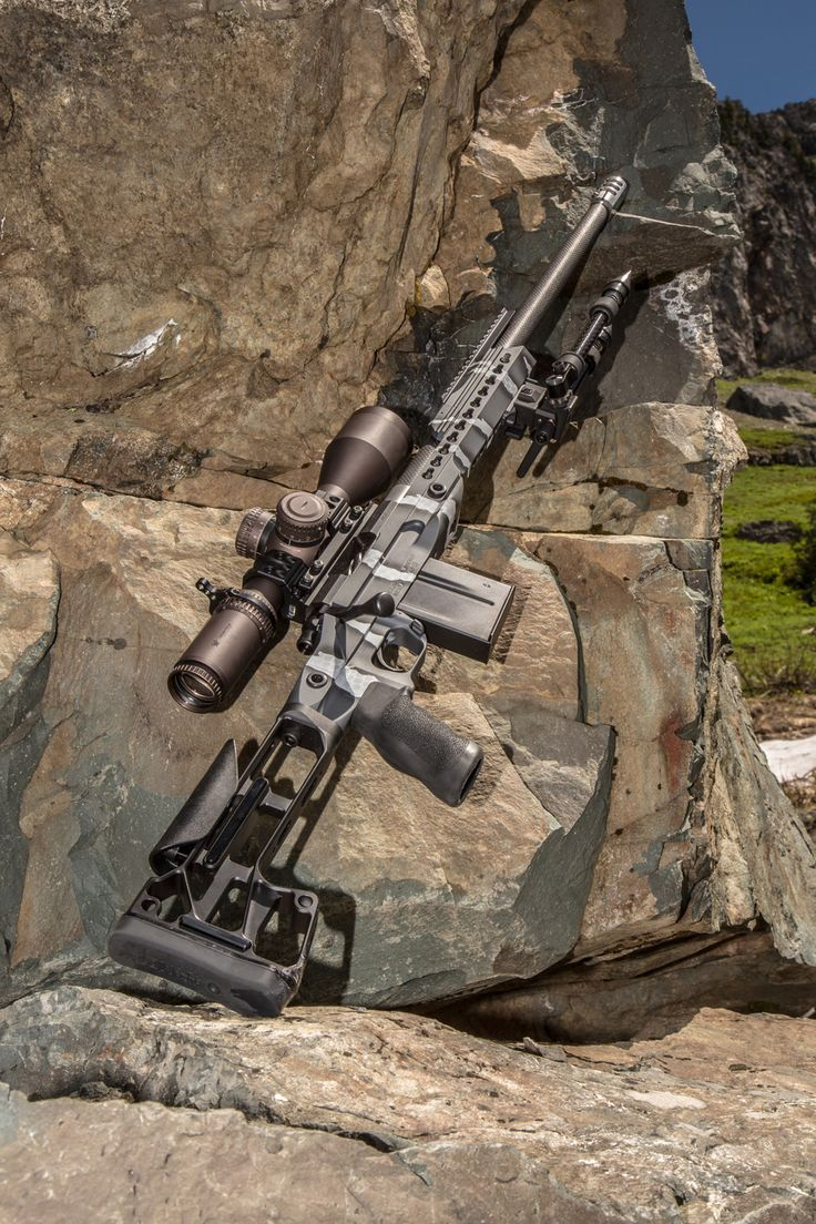 Custom H&H Precision Rifles 308 barreled action, sitting in our Orias Chassis, with a Vortex Razor HD Gen 2 scope and Spuhr 34 mm mount. The grip is and Ergo Tactical Deluxe and the butt stock is by MDT. Killer-Innovations.com