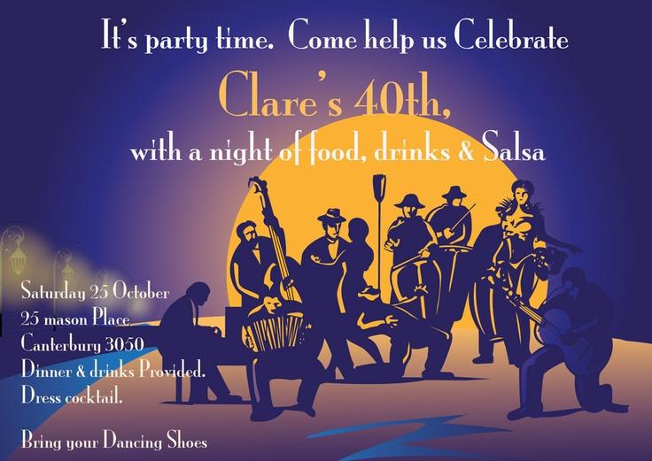 Blue Salsa A6 Invitation