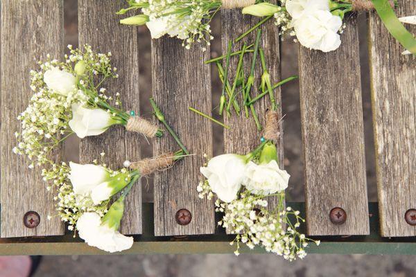 buttonholes Natural Homemade Bohemian Wedding https://www.facebook.com/MegJenkinsPhotography