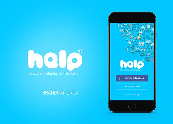 Help Mobile Branding and UI/UX on App Design Served