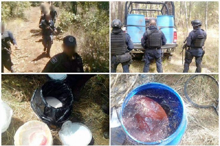 La acción policial se llevó a cabo tras denuncias ciudadanas sobre olor a ácido enSanta Clara, Tocumbo y Los Reyes, por lo que al reforzar la seguridad en la zona ...
