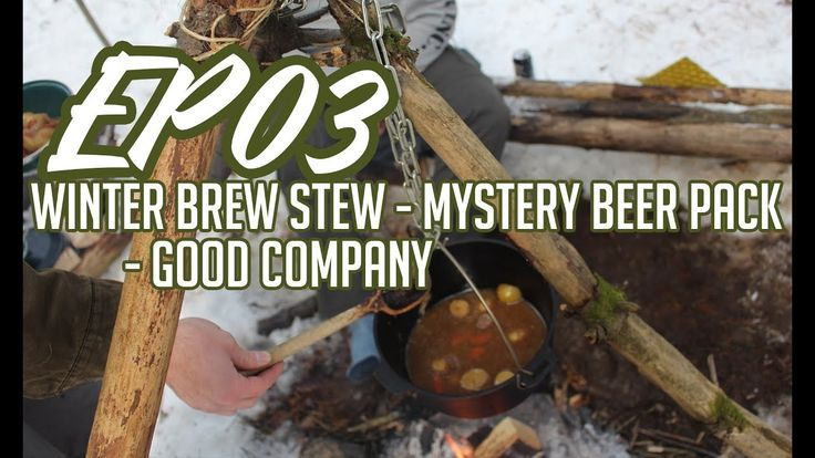 Cooking a winter brew stew over the fire mystery beer pack good company - A day in the woods - Ontario Canada. #outdoors #nature #sky #weather #hiking #camping #world #love https://youtu.be/CJ-e7l06Eew