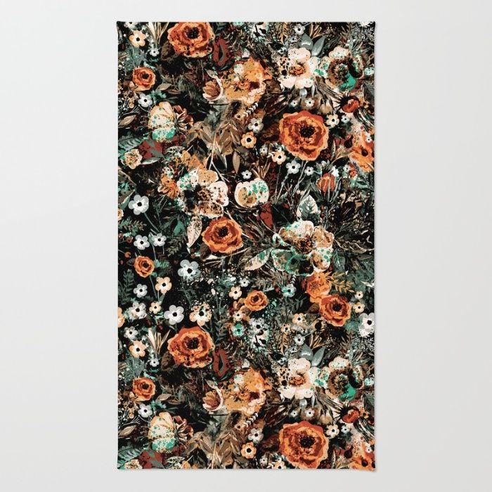 SPACE GARDEN IV Area & Throw Rug #rug #digitalart #floral #women #fashion #homedecor #fashionblogger #iphone #bag #flowers