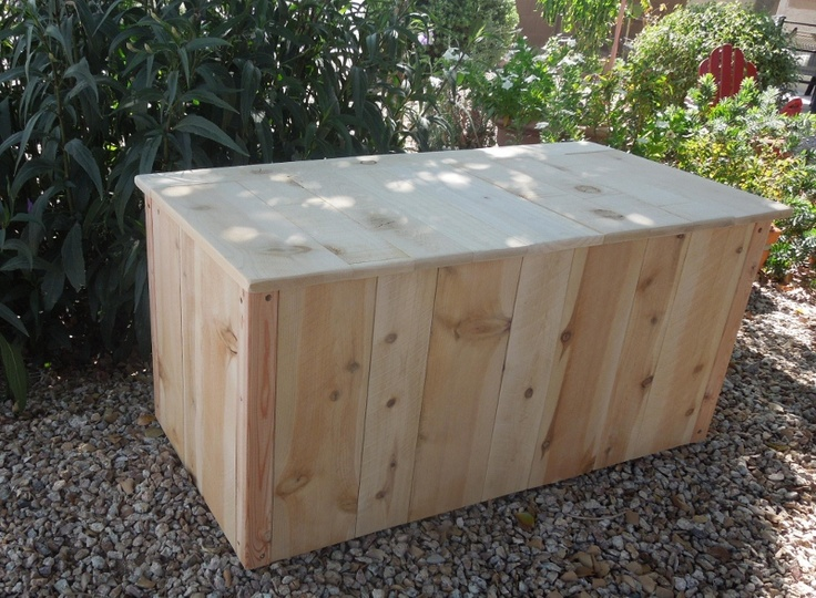 Large Cedar Wood Storage Trunk, Natural Color Wood With Polyurethane Clear  Coat, Made To Order
