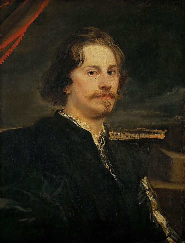 Portrait of a man, most probably of Pieter Claesz Soutman by Anthony van Dyck, ca. 1624 (PD-art/old), Kunsthistorisches Museum Wien; van Dyck met Soutman in Rubens' studio and portrayed him many years later, by which time Soutman had become court painter to the King of Poland