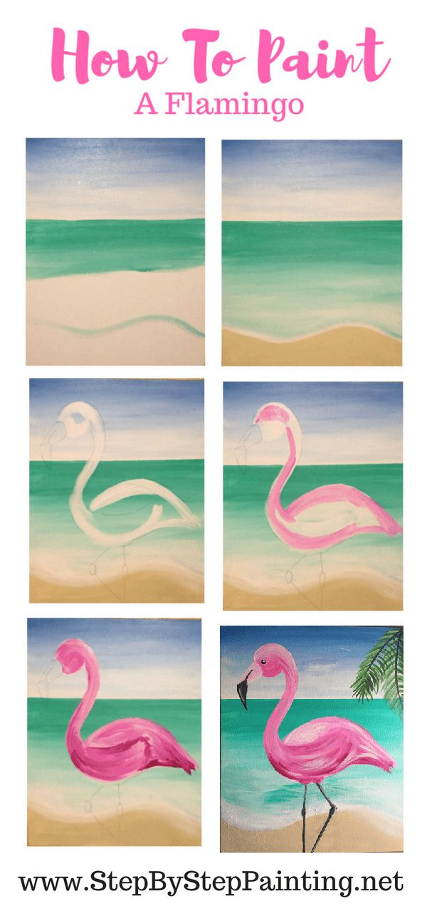 How To Paint A Flamingo – Step By Step Painting