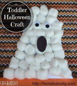 Toddler Halloween Craft� BOO!
