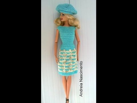 Diy vestido para boneca Barbie feito com ponto pé de galinha - faça você mesma - YouTube