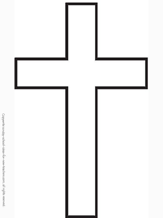 Sunday School Coloring Pages Cross Template Children