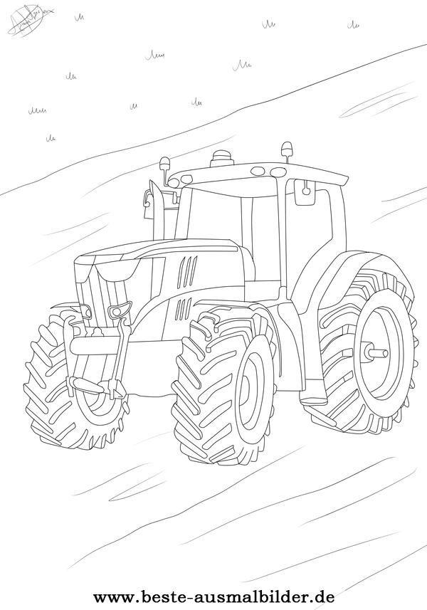 Kleurplaat Mercedes Traktor Ausmalbilder Malvorlagen F 252 R Kinder Traktor
