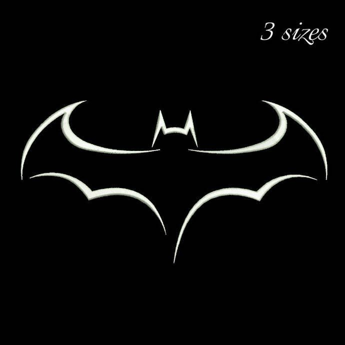 Batman embroidery design outline machine designs in the hoop pes file superheroes pattern digital download by SvgEmbroideryDesign on Etsy