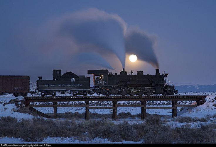 RailPictures.Net Photo: 489 Cumbres & Toltec Scenic Railroad Steam 2-8-2 at Antonito, Colorado by Michael F. Allen
