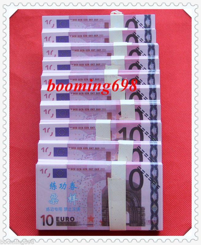 Banknote: Lots Of 1000 Pcs China Bank Staff 10 Euros Training Banknotes Paper Money/Unc