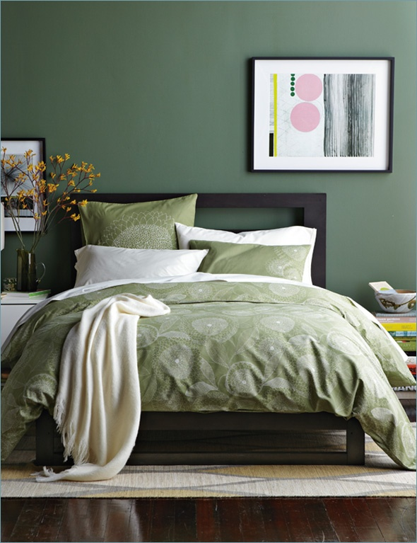 I happily own this @Elise West Elm headboard. These colors are so earthy and calm.