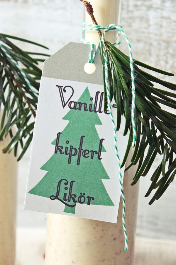 s'Bastelkistle: Geschenke aus der Küche: Vanillekipferl Likör