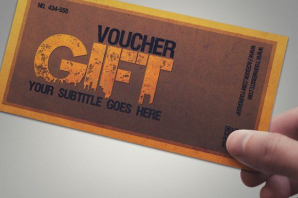 Multipurpose retro gift voucher by Tzochko on @creativemarket