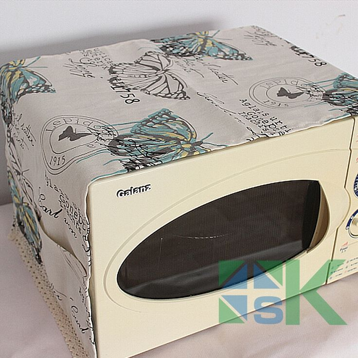 >> Click to Buy << Hot Sale Home Pastoral Style  Microwave Oven Cover Butterfly Print  Lace Linen Cover Dust-proof Microwave Oven Cover #Affiliate