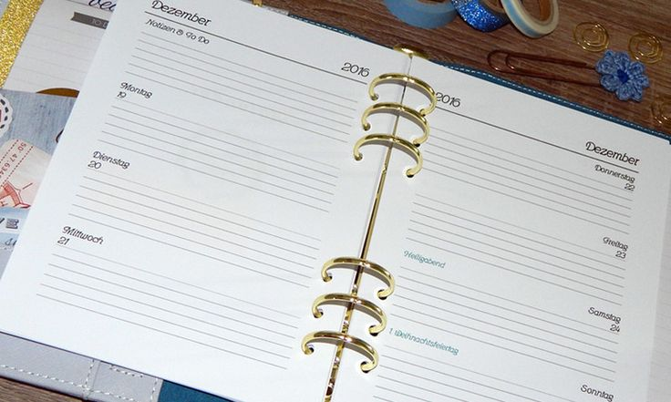 DIN A5 - A5 Kalender 1Woche=2Seiten liniert mit Feiertagen - ein Designerstück von EichhoernchenDesign bei DaWanda