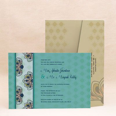 Bring a lively touch to your special occasion with this contemporary design. Let the celebrations begin.! Order the perfect invite that suits your's and your partner's personality with this printed invitation from our collection. #WeddingCard #WeddingInvite #WeddingInvitations #WaterColor #IndianWedding #paisleys #ChristianWedding #YouAreInvited #Foil #Gold #Bling #Blue #Violet #RSVP #SaveTheDate