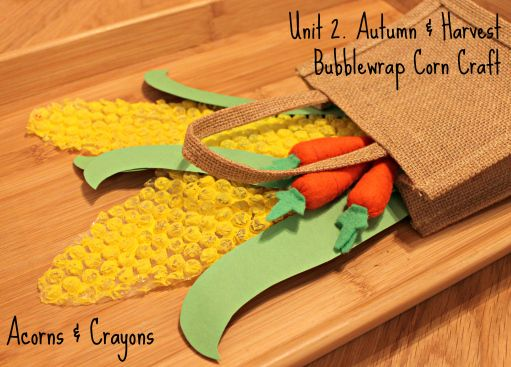 harvest arts and crafts ideas bubblewrap corn craft preschool activities crafts and 6696