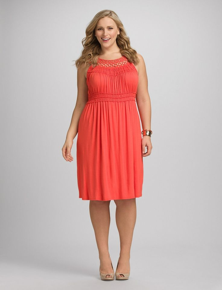 Plus size coral dress for wedding plus size dresses for for Wedding guest dresses size 14