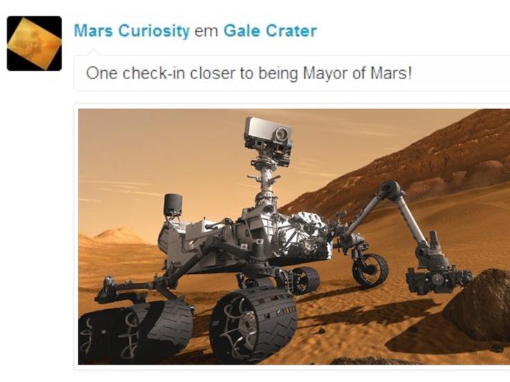 Sonda Curiosity faz primeiros 'check in's no planeta Marte. | Mello