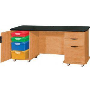 """Empowered Teachers Desk 60""""x26"""", Teacher Desks"""