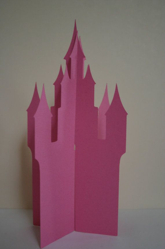 Fairytale Castle 3D Centerpiece by craftyworker686 on Etsy, $4.00