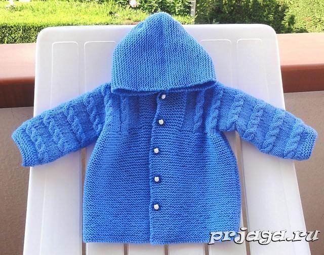 Пальто спицами для детей