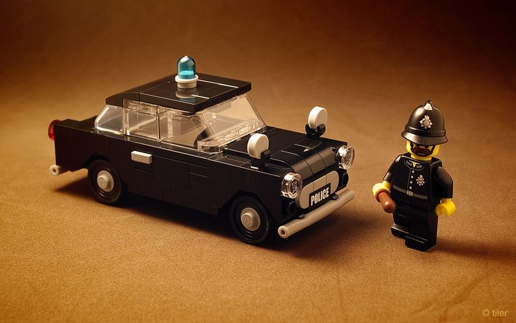 It couldn't get any better, as I finally got around building a car for one of my most favorite minifigs :)  This little 1959 Ford Anglia 100E in age-correct police black just screams for chrome, alas ironically I only miss one part - that new round tile in the grille mask. I even have some of those super-rare Lego 5l bars in chrome, which I was saving for a while. So for now, this goes without the chrome, but I'll have a good reason to come back at it at some point.  P.S. I never paid...