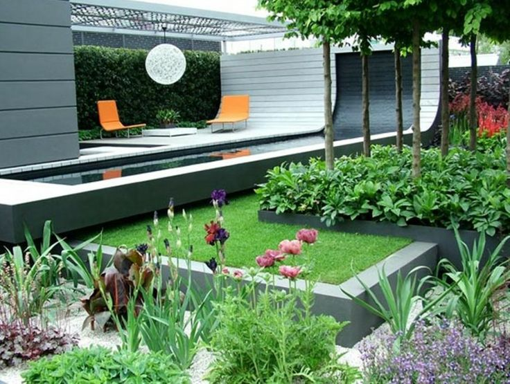 Exterior Contemporary Minimalist Home Style With Decoration And Little Garden Small Landscaping Ideas
