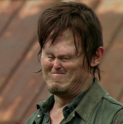 "Daryl crying with a tiny face: | 46 Things You'll Only Find Funny If You Watch ""The Walking Dead"""