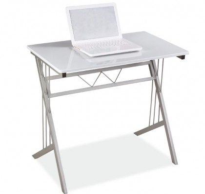 Mesa auxiliar Alaska Dimensiones:  - ancho: 80 cm.  - profundo: 51cm.  - alto: 72cm.  Ideal para el ordenador.  Mesa auxiliar de aluminio para despacho, comedor, o dormitorio. Ligera y resistente.  mueblesbonitos.com
