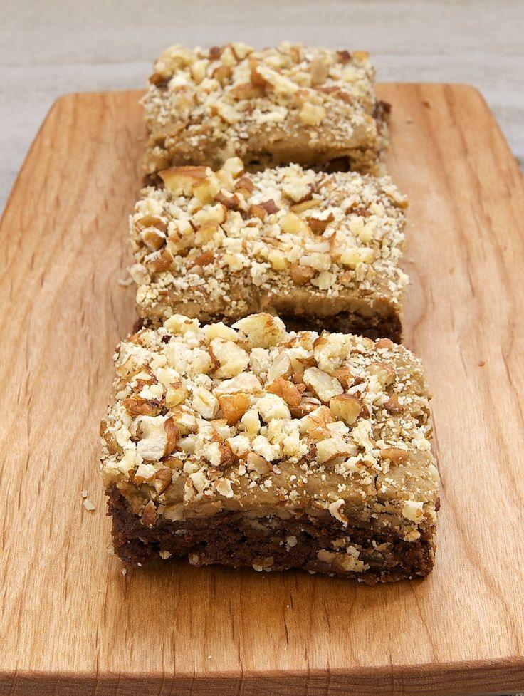 Frosted Caramel-Pecan Brownies ~ http://www.bakeorbreak.com