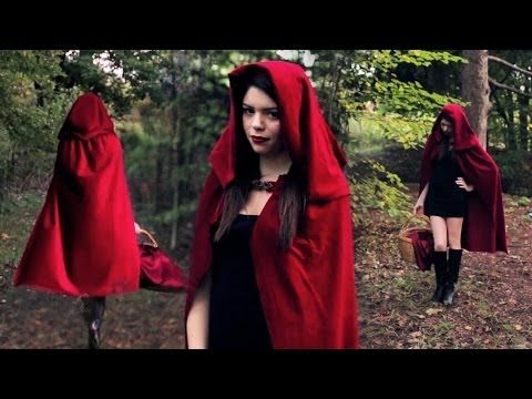 DIY LITTLE RED RIDING HOOD COSTUME...I think I just found my Halloween outfit for this year!!!!